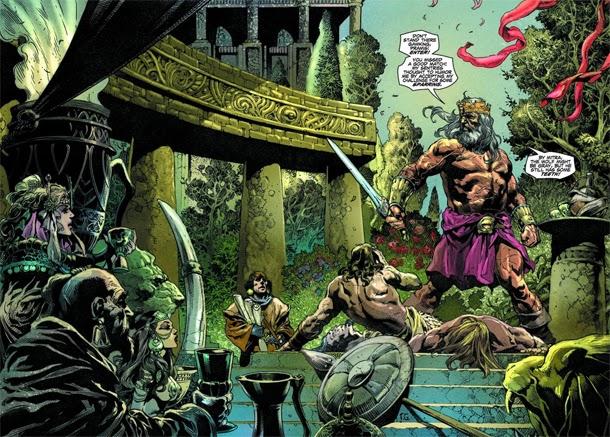 """Paginas del """"Conan Rey: El Fenix en la Espada"""" de Timothy Truman y Tomàs Giorello"""