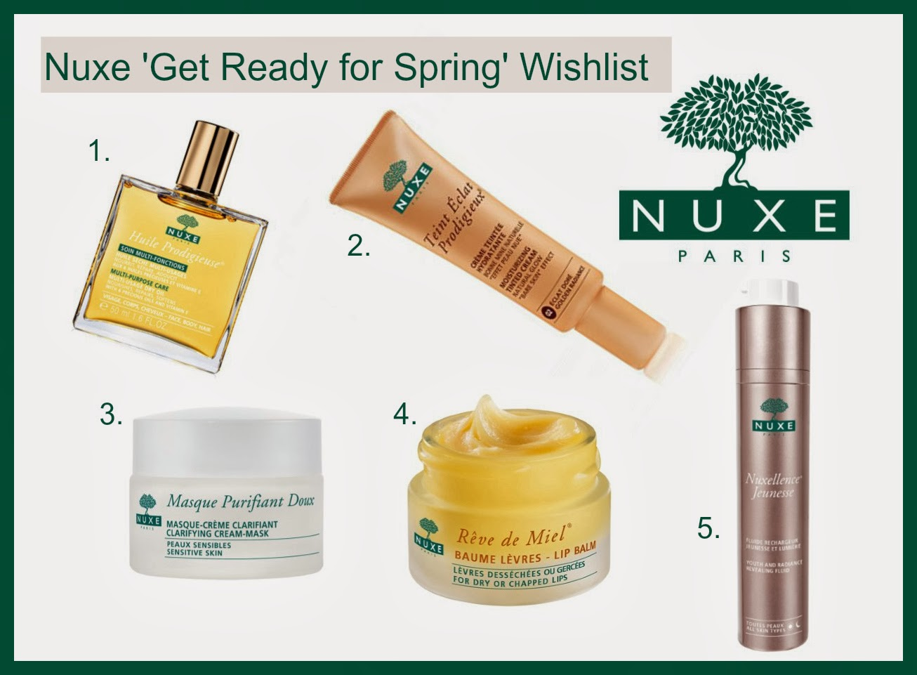 Nuxe Spring Pamper Wishlist Top 5