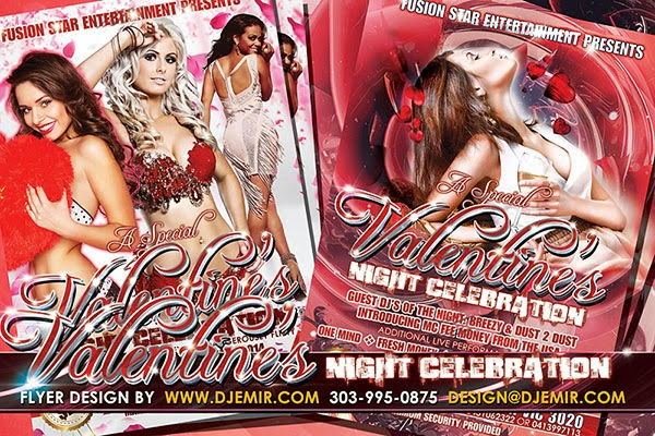 Valentine's Night Celebration Flyer Design