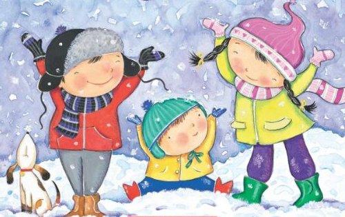 Znalezione obrazy dla zapytania zabawy zimowe obrazki