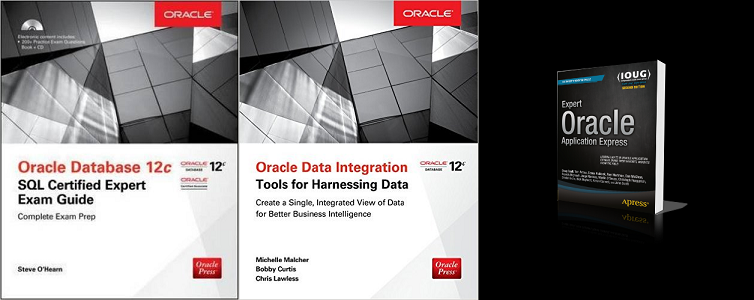 Latest Oracle 12c and Apex Books 2015