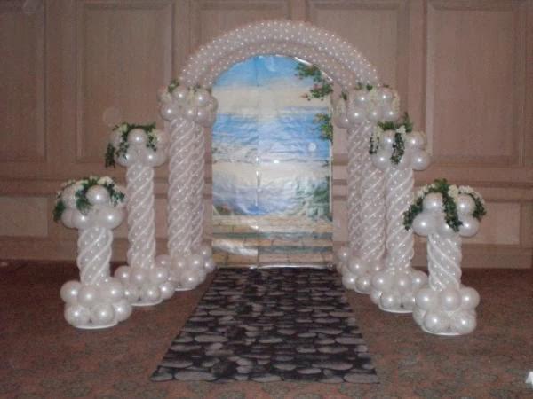Decoracion de Bodas con Arcos de Globos, parte 1