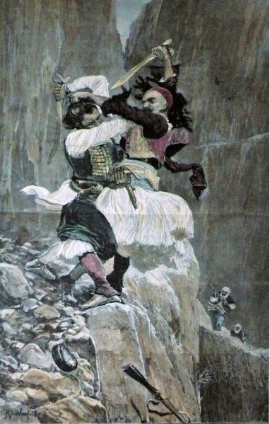 Бой черногорца и албанца