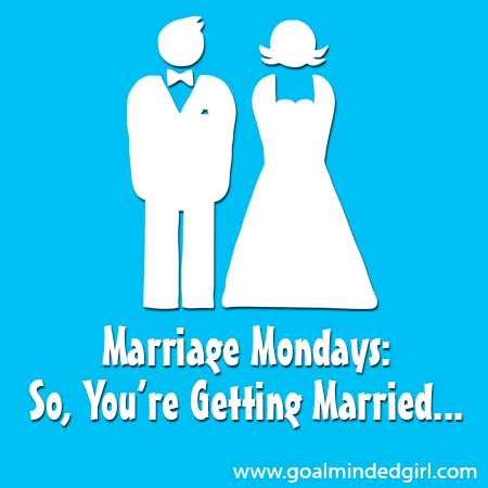 so you re getting married