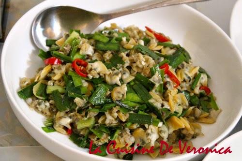 La Cuisine De Veronica 韭菜炒蜆肉