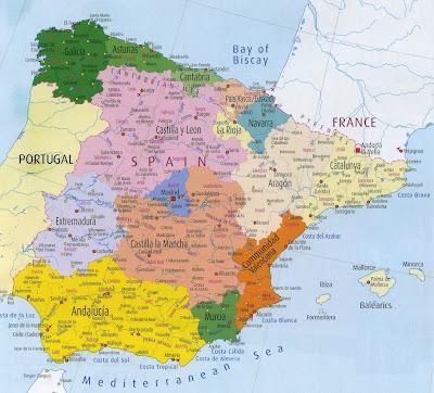 Mapa de España Politico Imagen