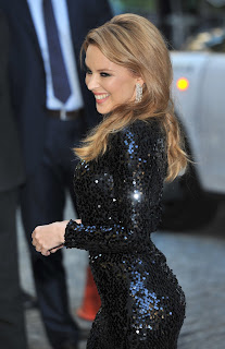 Kylie Minogue hot in tight black dress