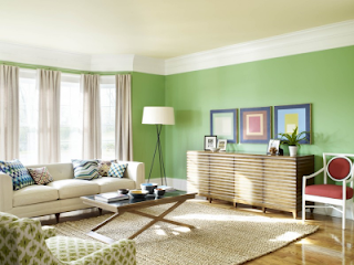 Green Living Room Design Interior