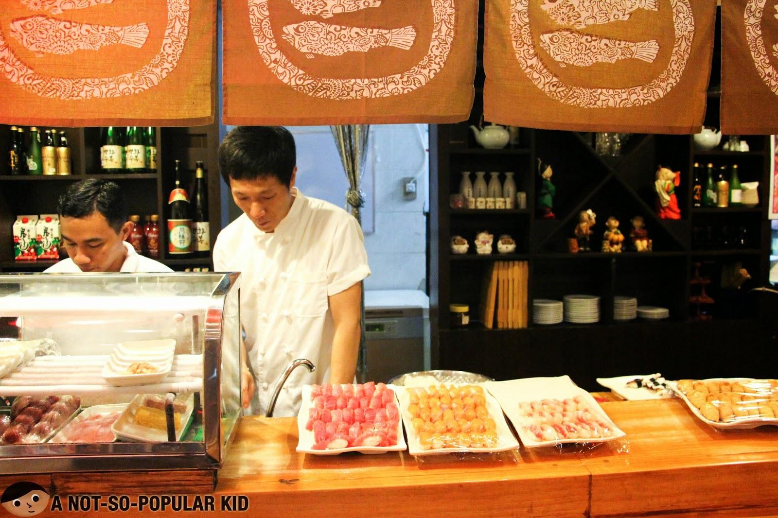 Mr. Park, Sushi Master of Genji-M in Makati