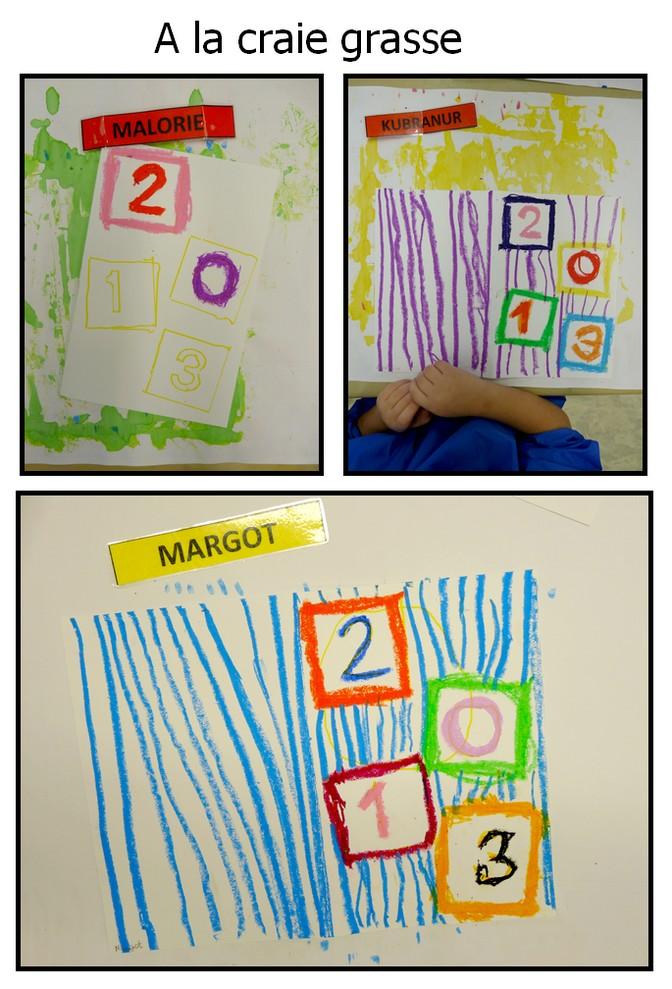 Carte de voeux ecole maternelle
