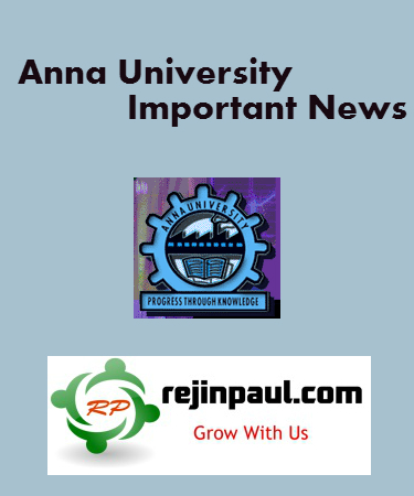 Anna University Notification