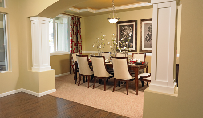 living room columns. modern living room design with round columns
