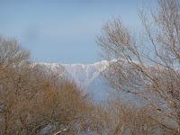 霊峰・比良の山々。