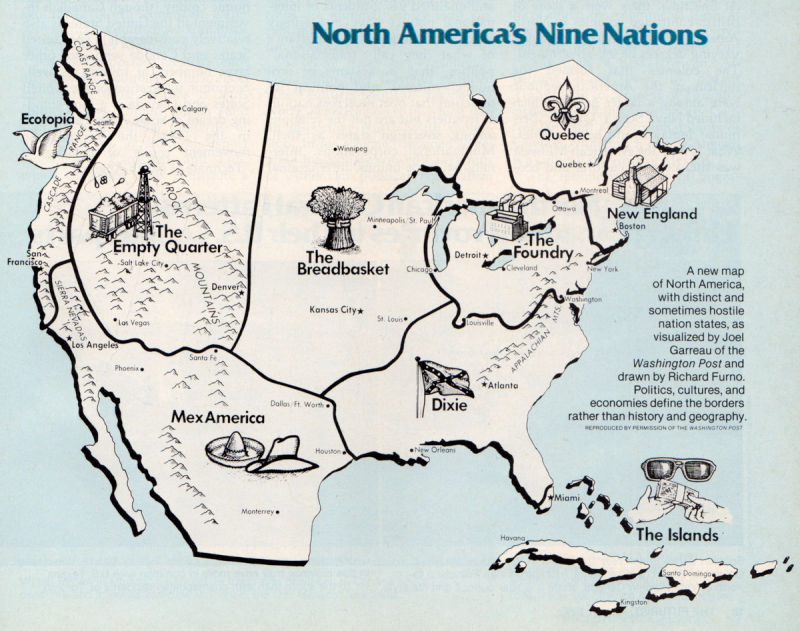 North America's nine nations