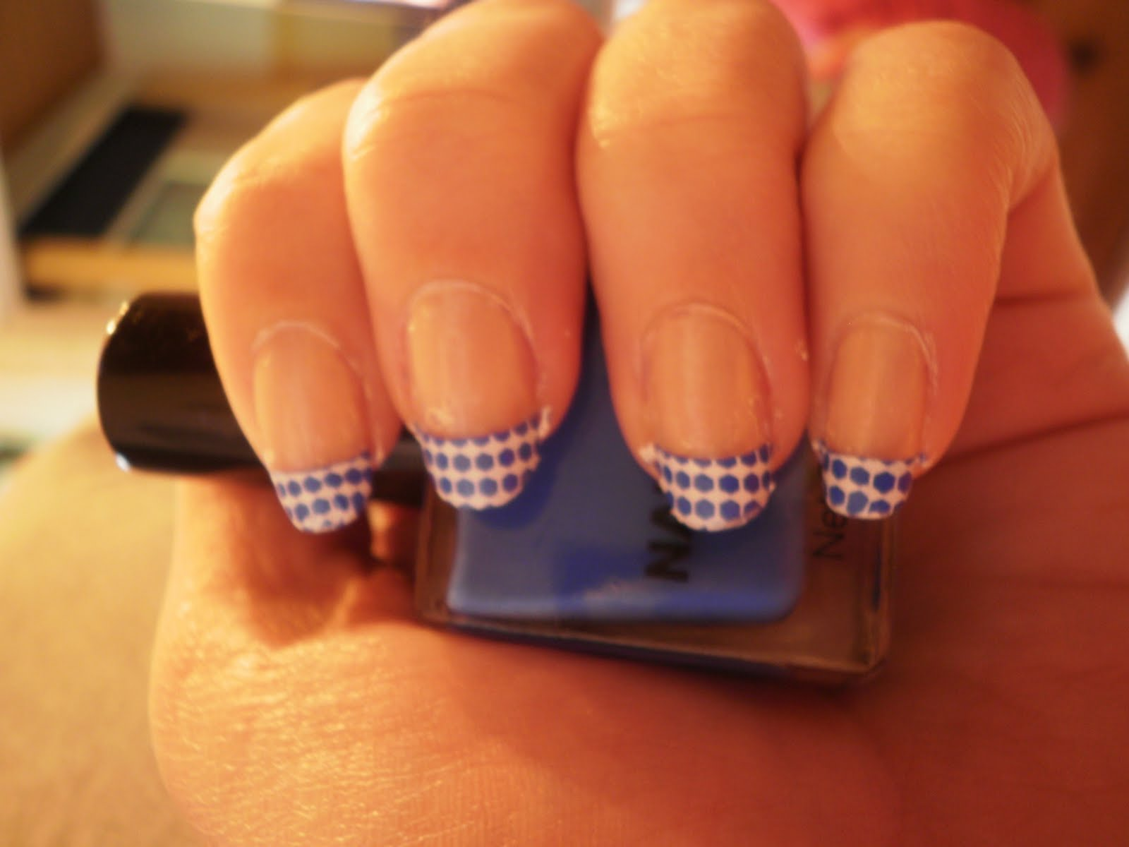 Crazy About Nails: Blue french tip