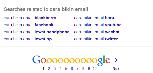 LSI Keyword dari pencarian google
