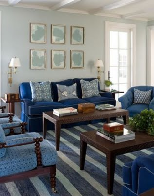 Tailored Habitat Blue And White Rugs