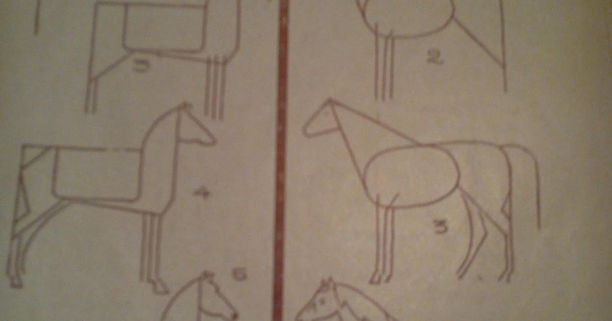 Dessins astuces pour debutants dessiner un cheval - Comment dessiner un train ...