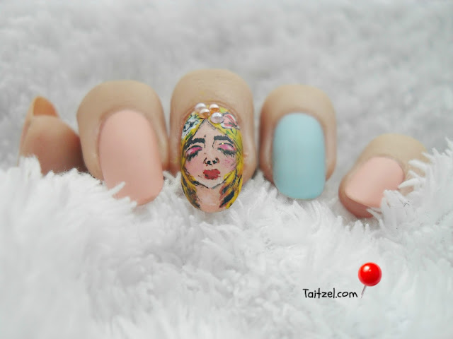 pastel nail art manichiura cu oja pastel