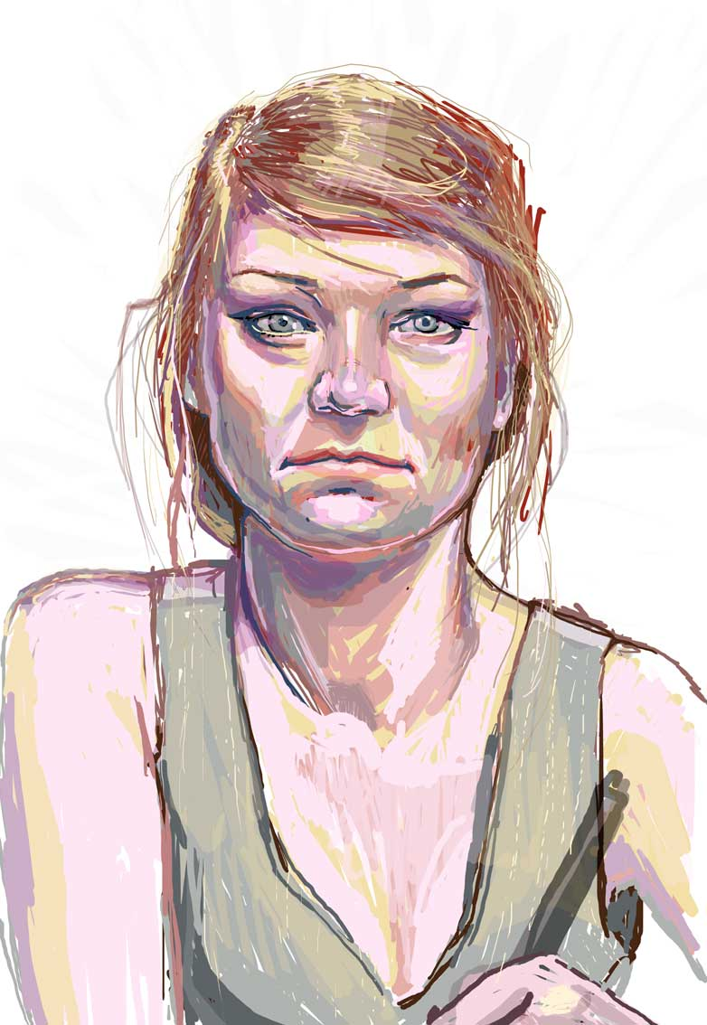 speed painting digital art portret Urbaniak first speed digital painting tablet wacom portrait
