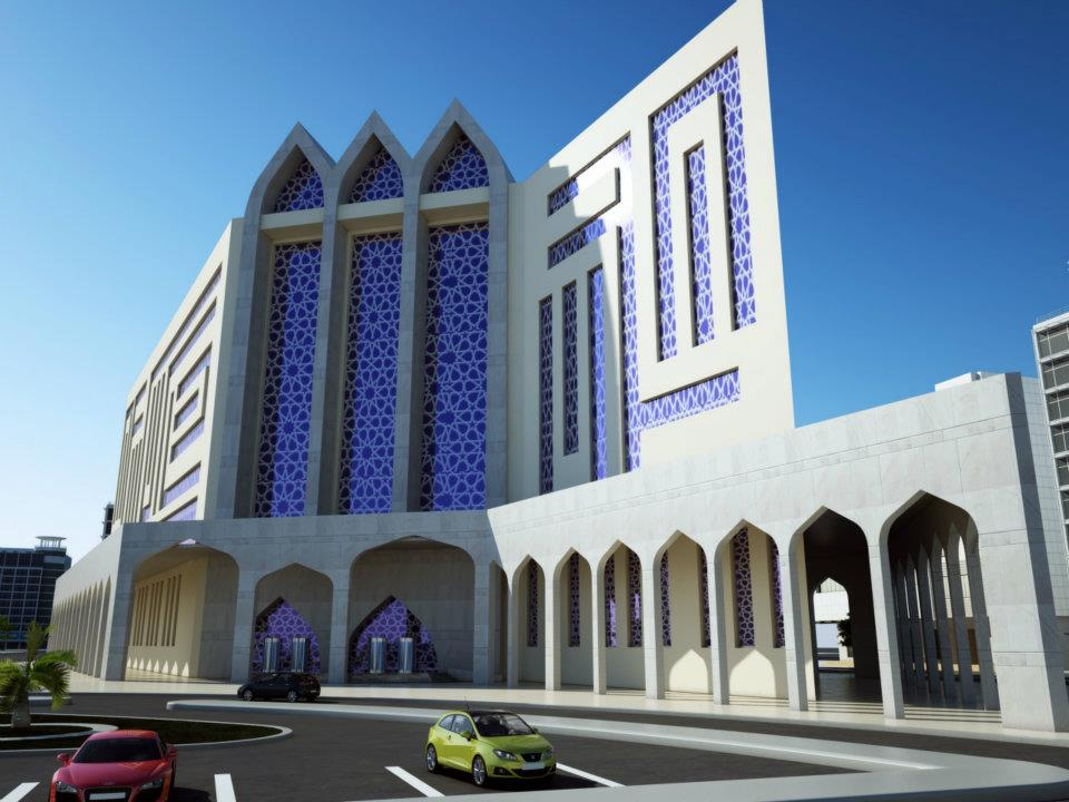 3D Front Elevation.com: Qutar , Doha 3D Commercial Plaza & Tower Front ...