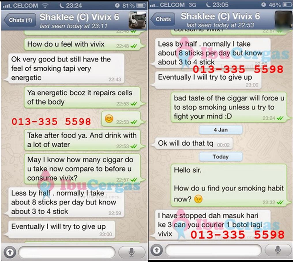 testimoni Vivix Shaklee membantu anda berhenti merokok dengan mudah dan cepat