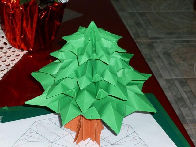Origami y derivados arbol de navidad - Arbol de navidad origami ...