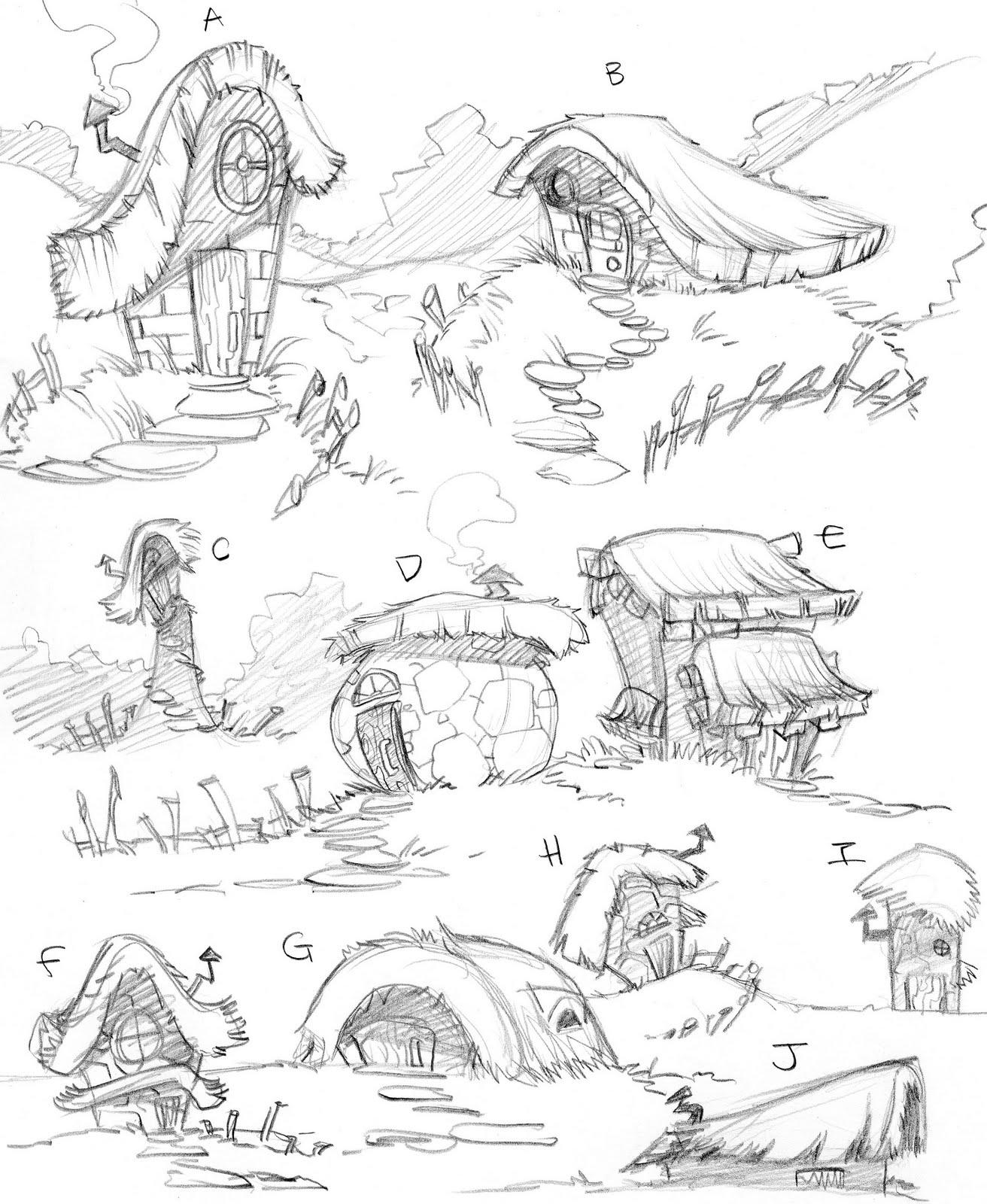 how to draw a cartoon treehouse
