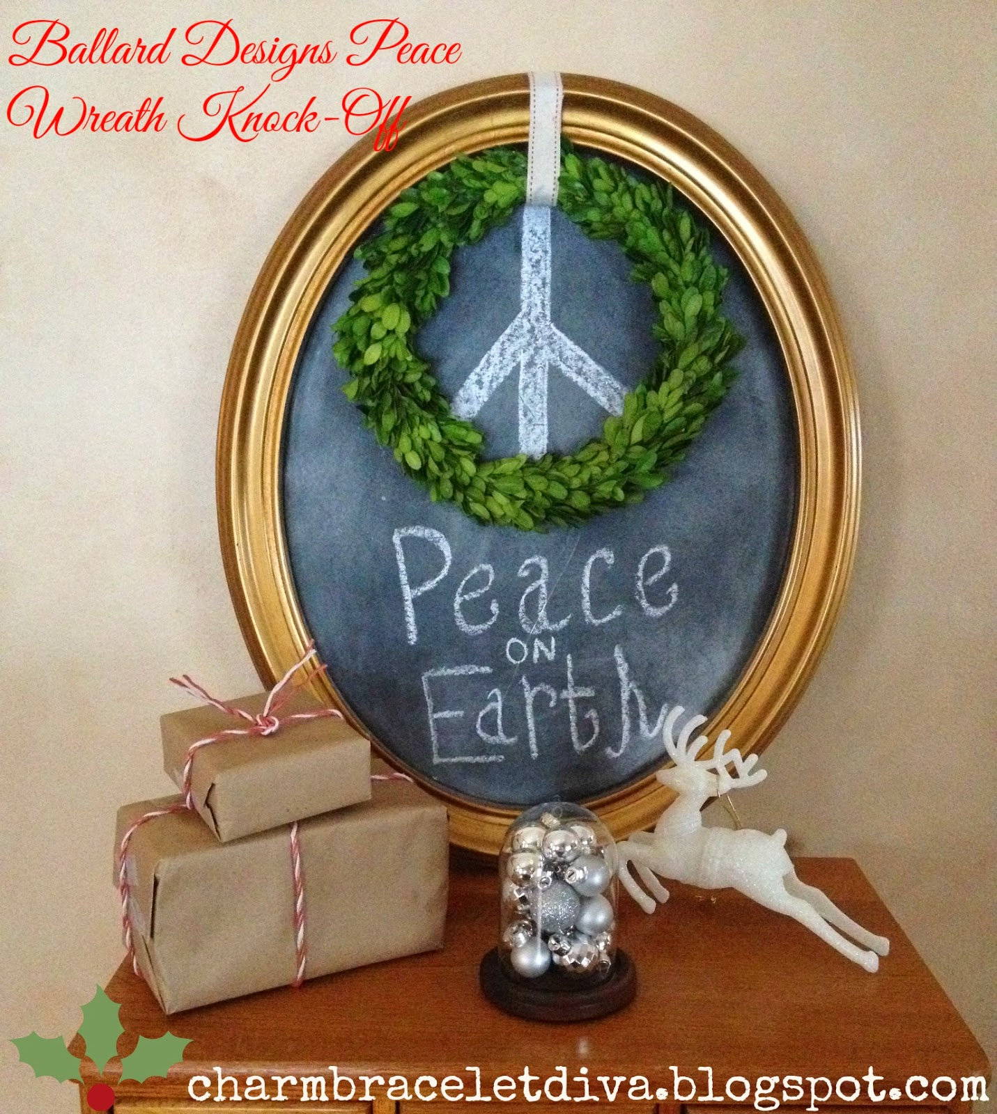 ballard designs credit card bamboo bathroom stool our hopeful home diy ballard christmas peace wreath knock off today i want to share with