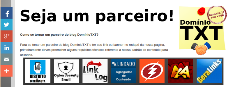 Parceiros DominioTXT