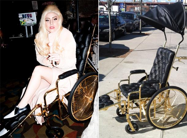Lady Gaga's 24-Karat Gold Wheelchair, Are You Doubting?