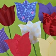 Tulip shaped Invitation or Card. Invitación o Tarjeta con forma de tulipán.