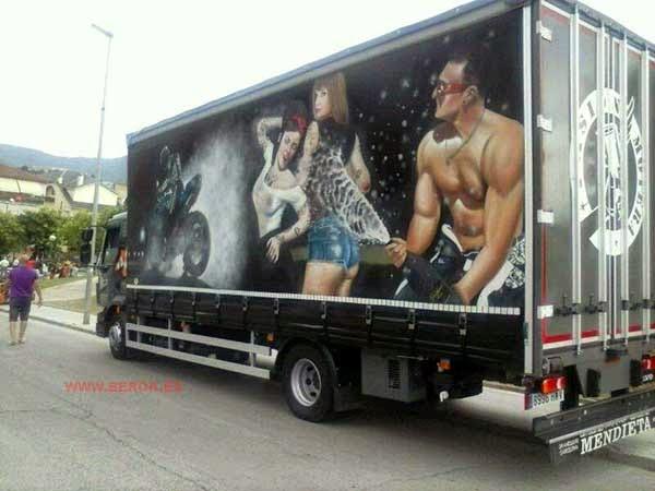 Graffiti camión Torrecillas