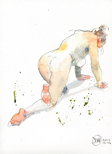 Life drawing by David Meldrum 20121204