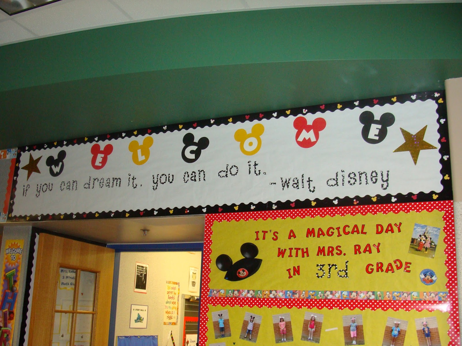 Classroom Decoration Disney ~ Teaching in mouse ears welcome to the  school year