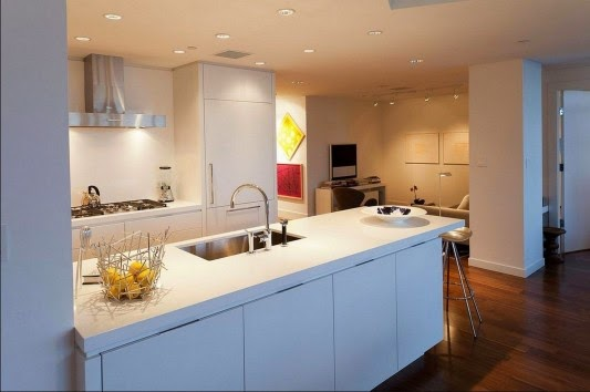 mesas de jantar Casa contemporânea com design feminino