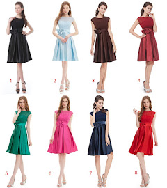 Eight-Color Elegant Chiffon lace Top Bow Satin Midi Dress