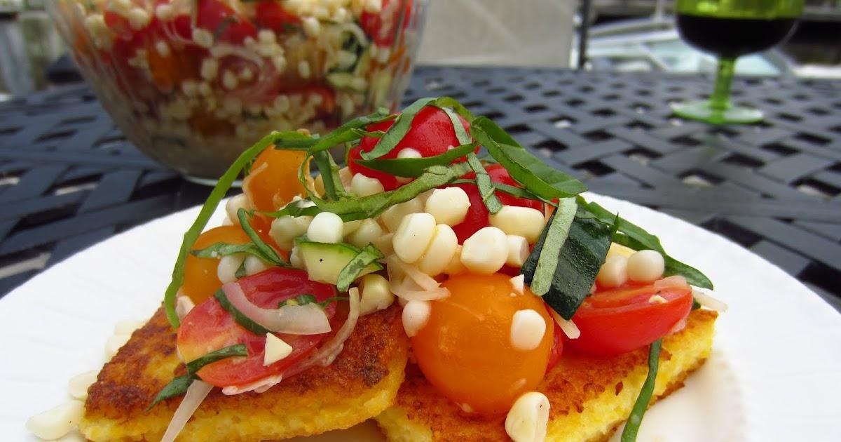 Gluten Free Blondie: Recipe: Polenta with Corn and Tomato Salad