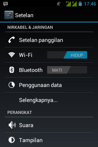 On/Off Wifi Android