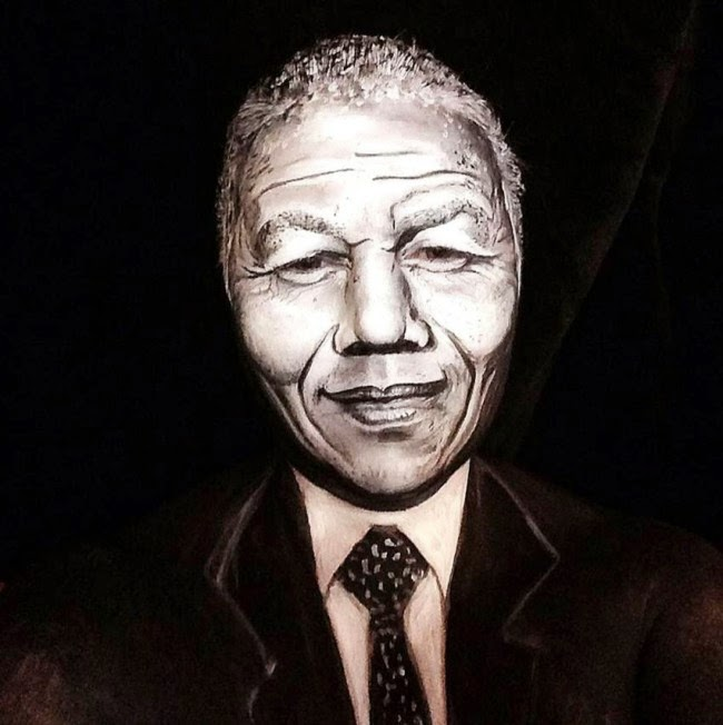 Nelson Mandela by Maria Malone-Guerbaa | Ses Rêveries