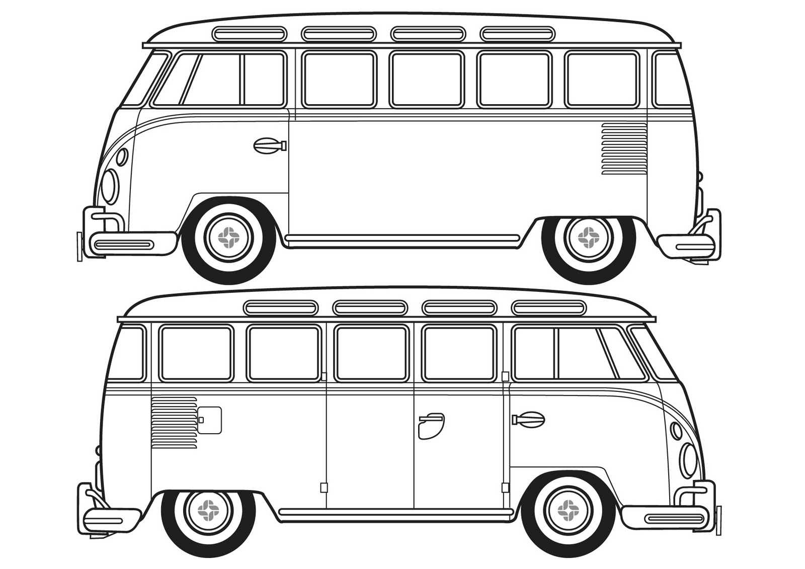 Vw Camper Van Free Colouring Pages