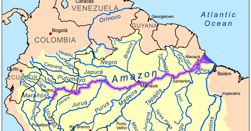 online maps amazon river map
