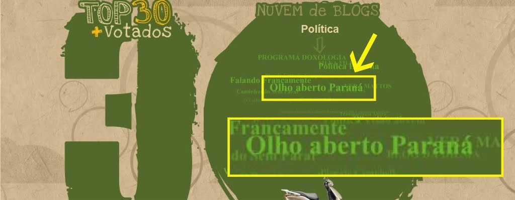 Olho aberto Paraná entre os 30 blogs mais lidos do Brasil em  2010