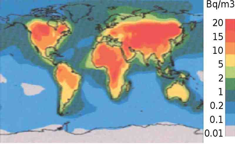 Arthur zbygniew mean atmospheric radon world map mean atmospheric radon world map gumiabroncs Choice Image