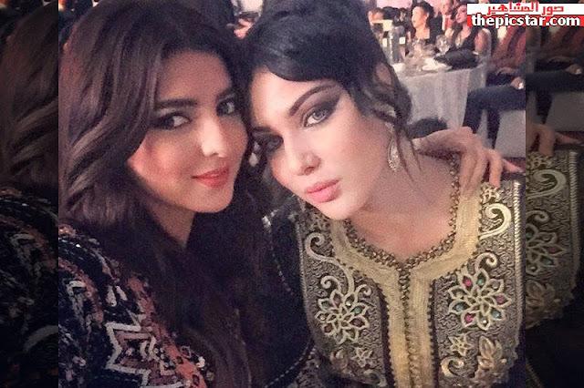 مريم سعيد مع المغنية المغربية ايتسام تسكات
