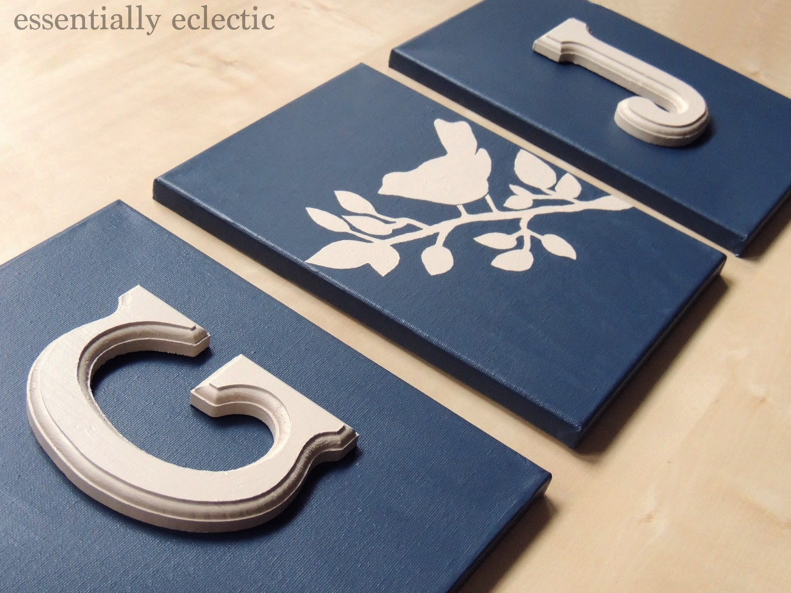 Diy initial wall art diy initial art essentiallyeclectic make your very own custom wall solutioingenieria Gallery