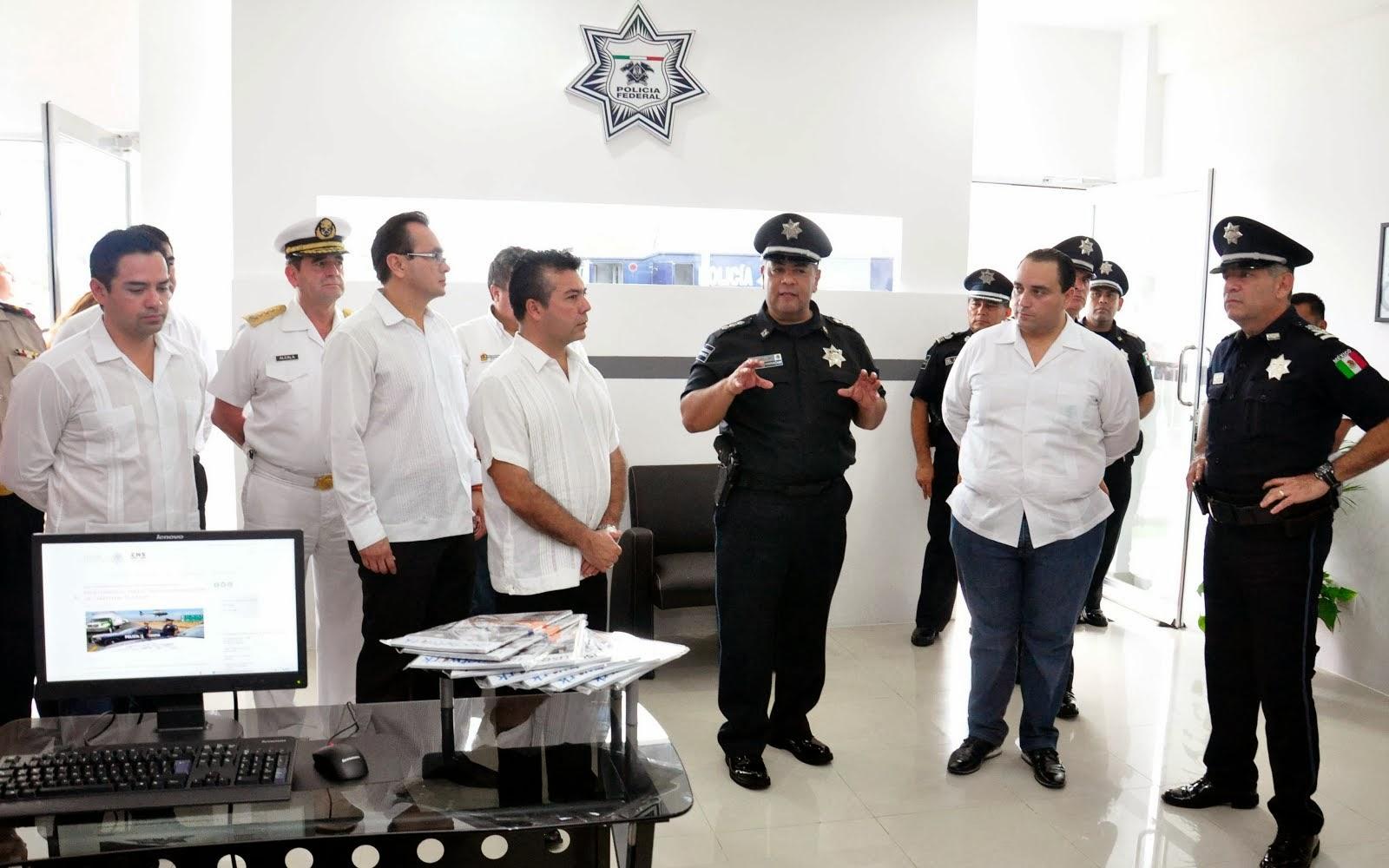 Radio barrio cancun recorre mauricio g ngora nuevas oficinas de la polic a federal preventiva - Oficina del policia ...