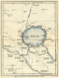 Crater Lake Map Circa 1923