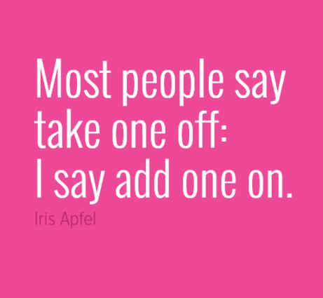 I love Iris Apfel!