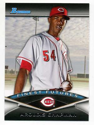 2011 Bowman Finest Futures Aroldis Chapman